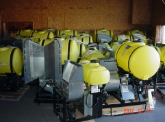 Sprayers in warehouse